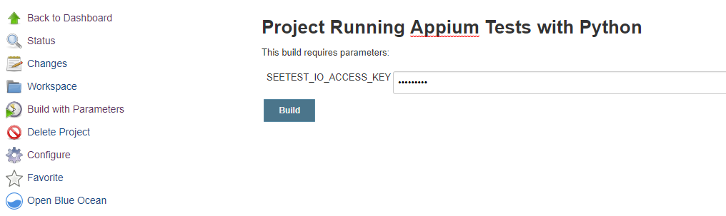 Running a Python Jenkins Job - Experitest - Test Execution