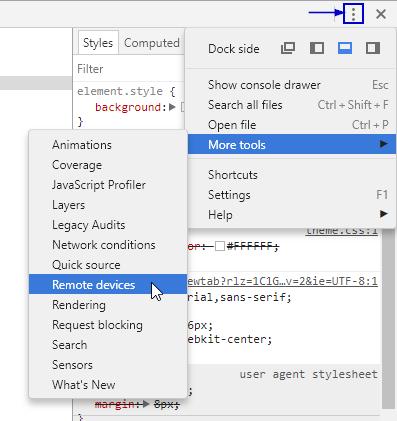 Chrome DevTools - For Android Chrome - Experitest - Live Testing